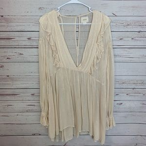 Anthropologie Maeve Ruffles Tunic Size 8 !